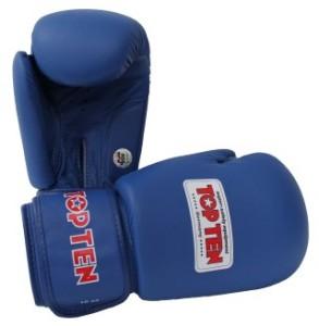 AIBA認證10oz拳擊手套藍色 (Mobile)