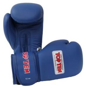 AIBA認證12oz拳擊手套藍色 (Mobile)